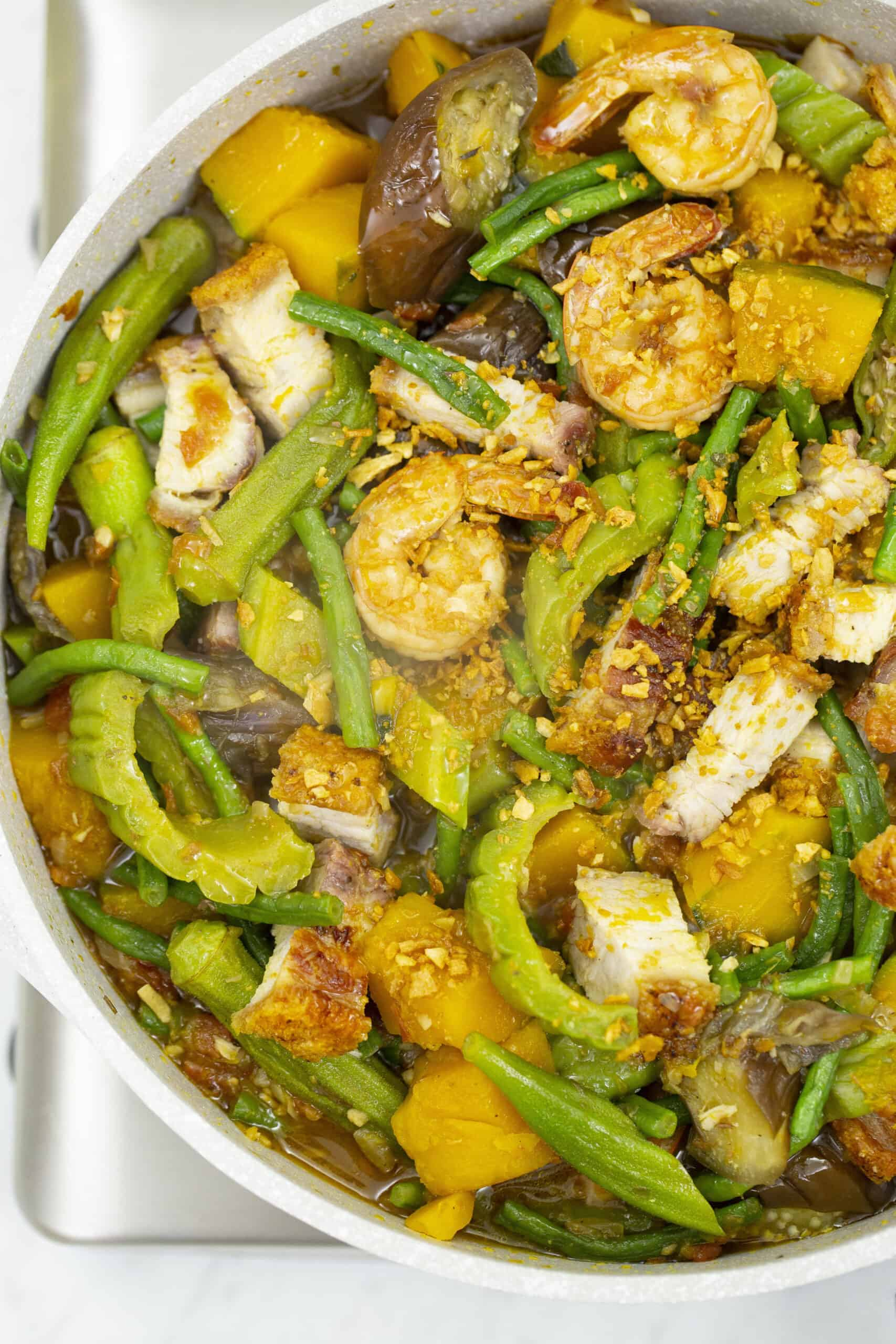 Pinakbet With Crispy Pork Belly Recipes By Nora