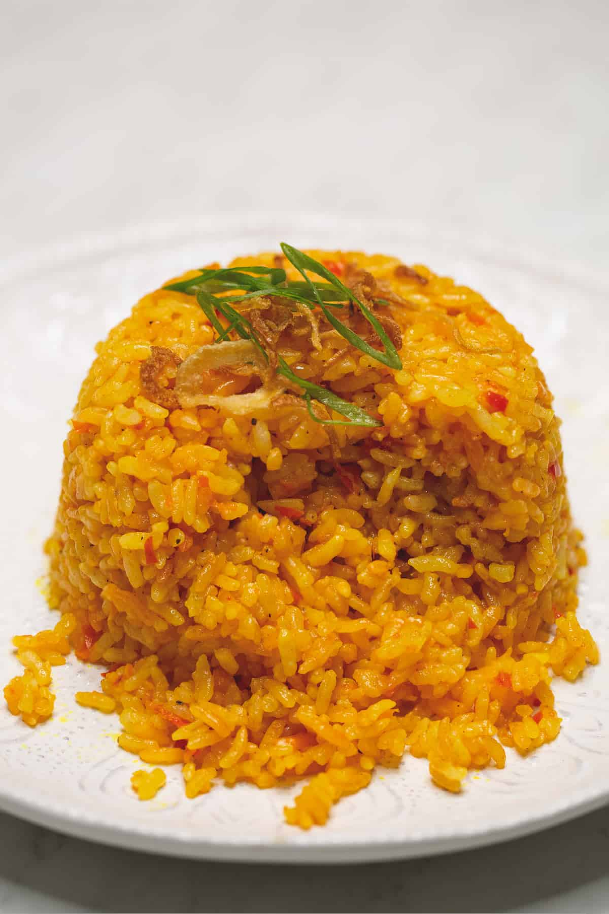 java rice on a plate