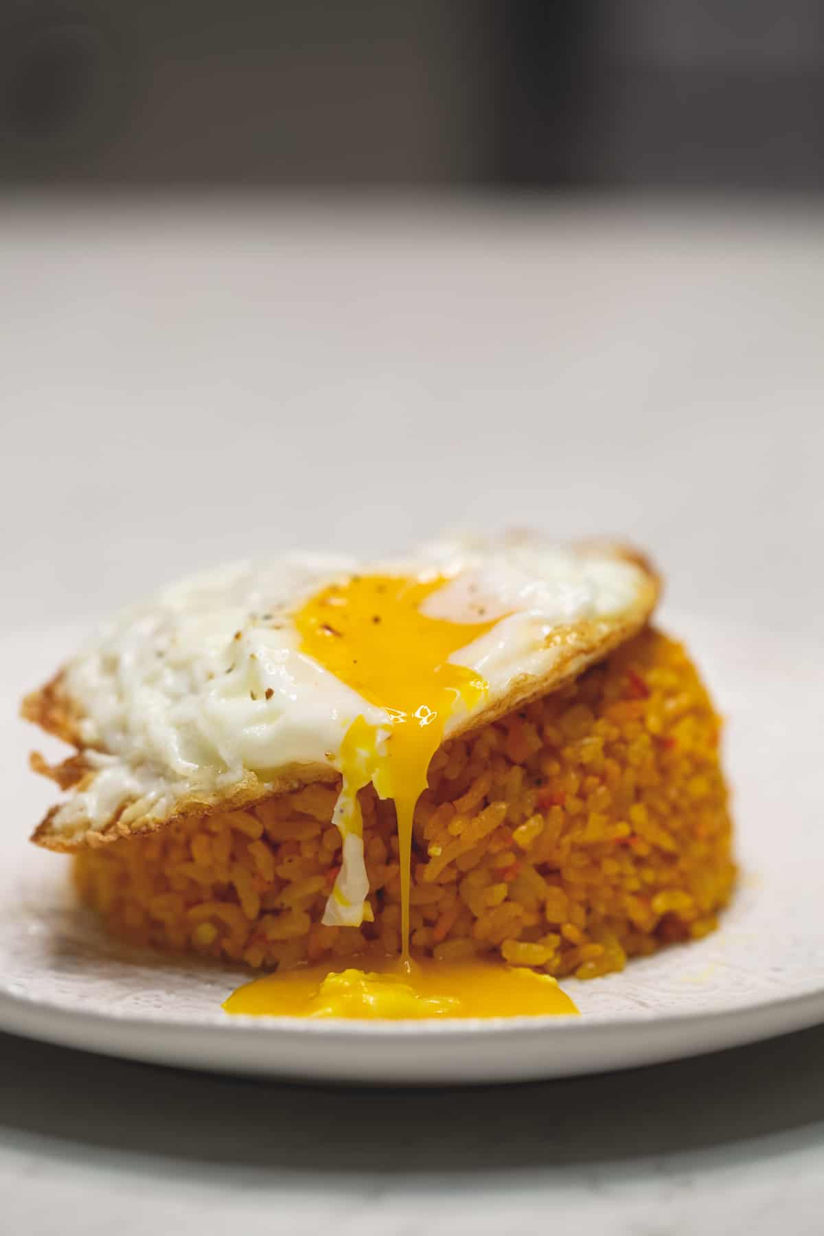 java rice with fried egg on top
