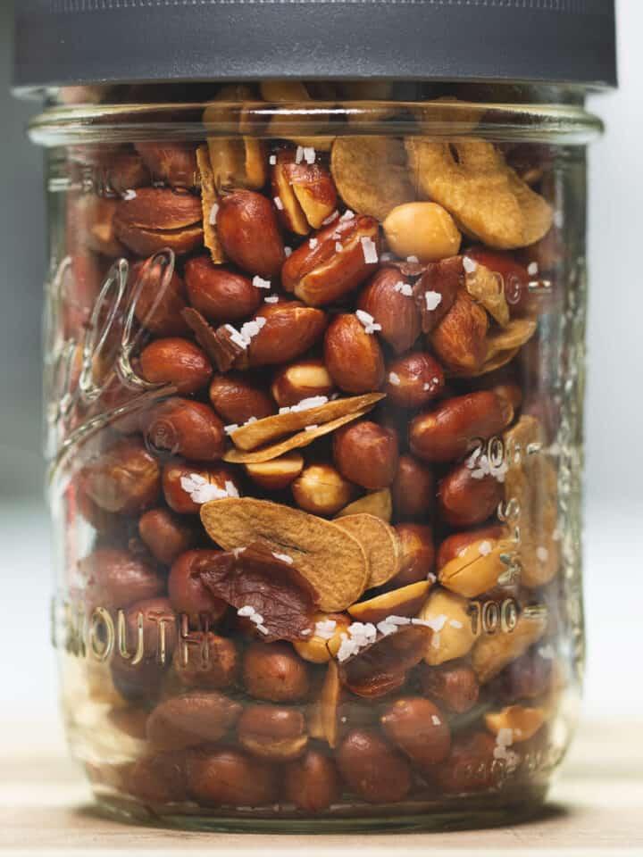 Adobong mani in a jar