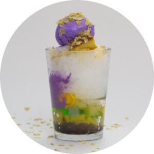 halo halo in a tall glass